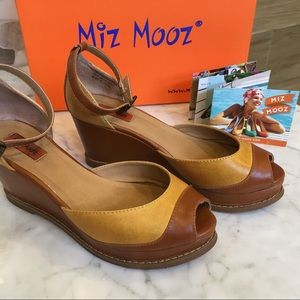 Miz Mooz Retro inspired wedge shoes